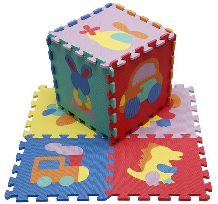 Alltoys puzzle z pianki zwierzątka i pojazdy 9 sztuk