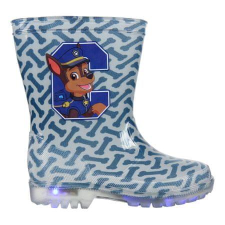 Disney kalosze świecące chłopięce Paw Patrol 23 niebieskie