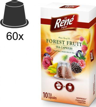 René herbata Forest Fruit Nespresso 10 kapsułek, 6 opakowań