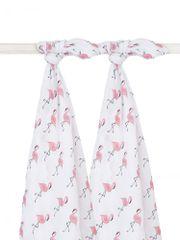 Jollein Osuška bavlněná 2ks Flamingo