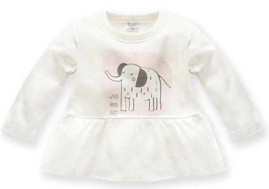 PINOKIO dívčí tričko Wild Animals 62 bílá