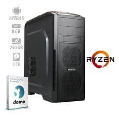 mimovrste=) namizni računalnik Performance Ryzen5/8GB/NVMe250GB/1TB/FreeDOS