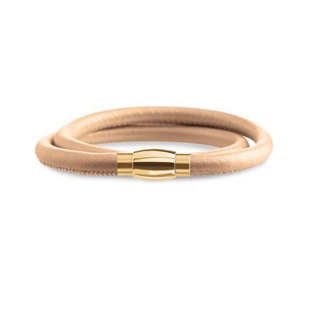 Boccia Titanium Dupla bőr karkötő 0395-03 (hossz 40 cm)