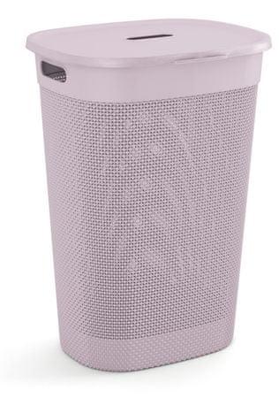 Kis kosz na pranie Filo 55 l, różowy