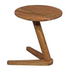 Bruxxi Odkladací stolík Boha, 45 cm, masív Sheesham