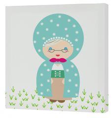mr.Fox Nástenný obraz Grandma - babička, 27x27 cm