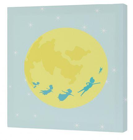 mr.Fox Nástenný obraz Peter - mesiac, 27x27 cm