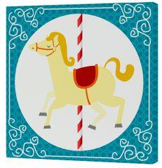 mr.Fox Nástenný obraz Spit Spot - žltý kôň, 27x27 cm