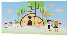 mr.Fox Nástenný obraz Candy house - lízanky, 27x54 cm