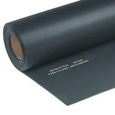 Černá elektroizolační průmyslová rohož Switchboard, Class 1 - 150 cm, 91 cm a 0,64 cm