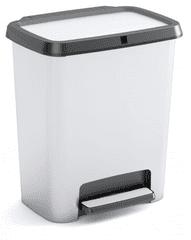 Kis Kôš na triedený odpad Compatta Style Steel 20 + 20 l