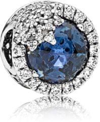 Pandora Olśniewający niebieski koralik Snowflake 796358NTB srebro 925/1000