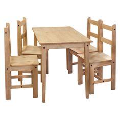 IDEA nábytok Stôl + 4 stoličky CORONA 2 vosk 161611