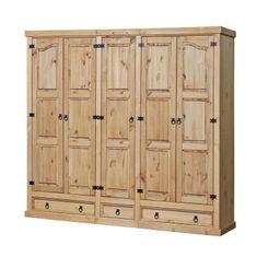 IDEA nábytek Skříň 5dveřová CORONA vosk 162819