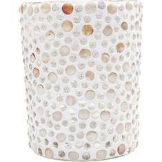 KARE Svícen na čajovou svíčku Pearls - velký