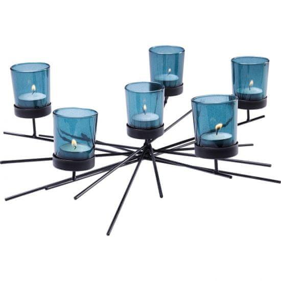 KARE Svícen na čajovou svíčku Micado Turquise Six