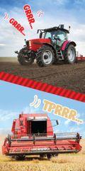 Carbotex Dětská osuška Traktor a Kombajn