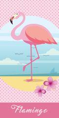 Carbotex Dětská osuška Flamingo