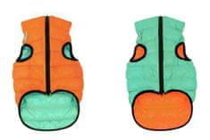 Airyvest Teplá vesta pro psa AiryVest LUMI svítící ve tmě oranžovo mentolová