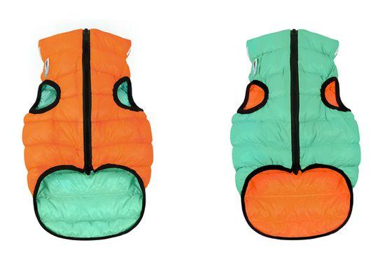 Airyvest Teplá vesta pro psa AiryVest LUMI svítící ve tmě oranžovo zelená