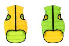 Airyvest Teplá vesta pro psa AiryVest zeleno žlutá