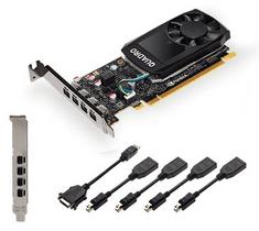 PNY grafička kartica Quadro P620, 2 GB GDDR5, 4x mDP-DP, 1x mDP-DVI, Low Profile