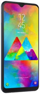 Samsung Galaxy M20, bezrámečkový displej, Full HD+, vysoké rozlišení, duální fotoaparát, širokoúhlý.