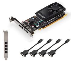 PNY grafična kartica Quadro P620 DVI, 2 GB GDDR5, 4x mDP-DVI, Low Profile