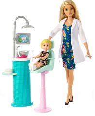 Mattel Barbie Zubařka blondýna Povolání herní set s panenkou