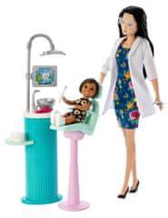 Mattel zestaw Barbie Dentystka brunetka, seria Zawody
