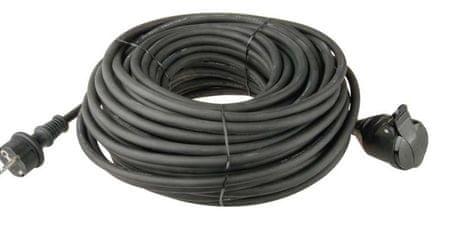 EMOS Gumi hosszabbító kábel - csatlakozó, 30 m, 3× 1,5 mm2