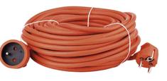 Emos Prodlužovací kabel – spojka, 20m, 3× 1,5 mm, oranžový
