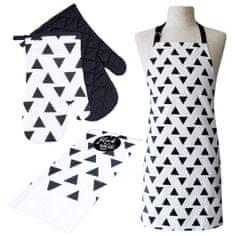 My Best Home Konyhai textil szett 3 Black White, háromszög