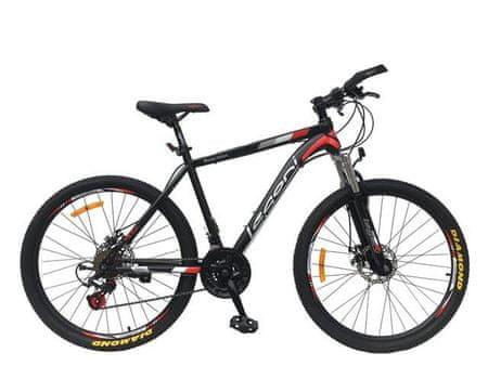Legoni bicikl 26'' MTB Reaction, mat crveno-crni