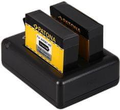 PATONA Sada pro digitální kameru Dual GoPro Hero 4 nabíječka + 2× baterie 1160 mAh USB, PT1983B