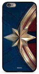 MARVEL Captain Marvel 022 Premium Glass Kryt pro iPhone 6/6S Plus Blue MPCCAPMV11102