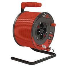 Emos PVC prodl. kabel na bubnu s vypínačem – 4 zásuvky, 50 m, 1,5 mm2