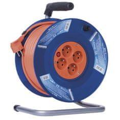 Emos PVC prodlužovací kabel na bubnu – 4 zásuvky, 50 m, 1,5 mm2