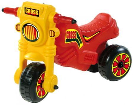 Teddies Motorek biegowy CROSS - czerwony