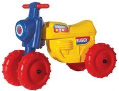 Teddies Motorek biegowy CROSS 2 - żółty
