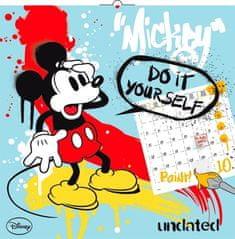 Poznámkový kalendář Mickey Mouse – DIY: omalovánkový kalendář s pastelkami