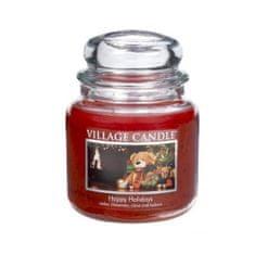 Village Candle Vonná sviečka v skle Šťastné Vianoce (Happy Holidays) 397 g