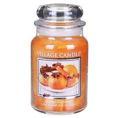 Village Candle Świeca zapachowa w szkle pomarańczy i cynamonu (cynamon pomarańczowy) 645 g