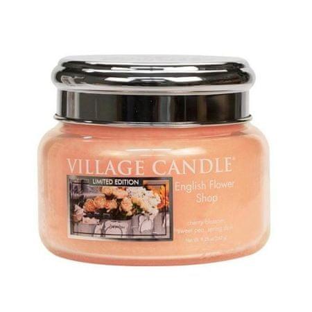 Village Candle Illatgyertya Angol kávé (English Flower Shop) 262 g