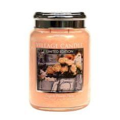 Village Candle Vonná sviečka v skle Anglické kvety (English Flower Shop) 602 g