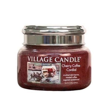 Village Candle Illatgyertya üveg Cseresznye kávé likőr (Cherry Coffee Cordial) 262 g