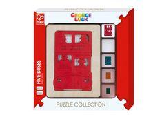 Hape Toys George Luck puzzle, 5 autobusa, 6 komada