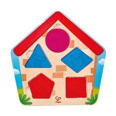 Hape Toys puzzle kdo je v hišici