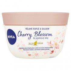 Nivea Tělo vé suflé s olejom Cherry Blossom & Jojobový olej 200 ml