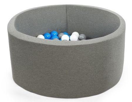 Misioo Basen z piłkami 90x40cm szary chłopięcy zestaw